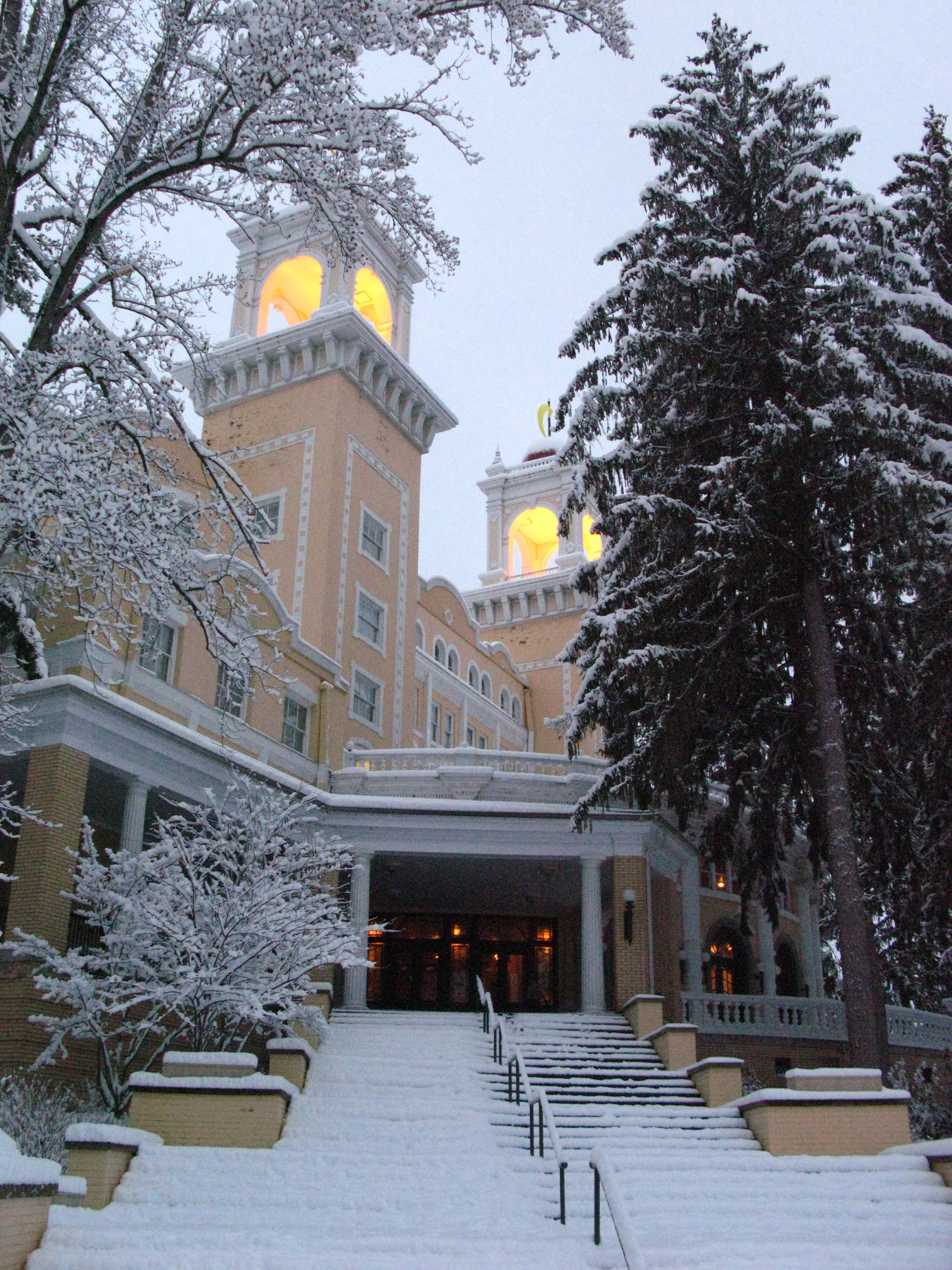 The majestic West Baden Springs Hotel in