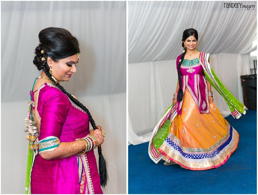 indian side braid for prewedding event garba indian