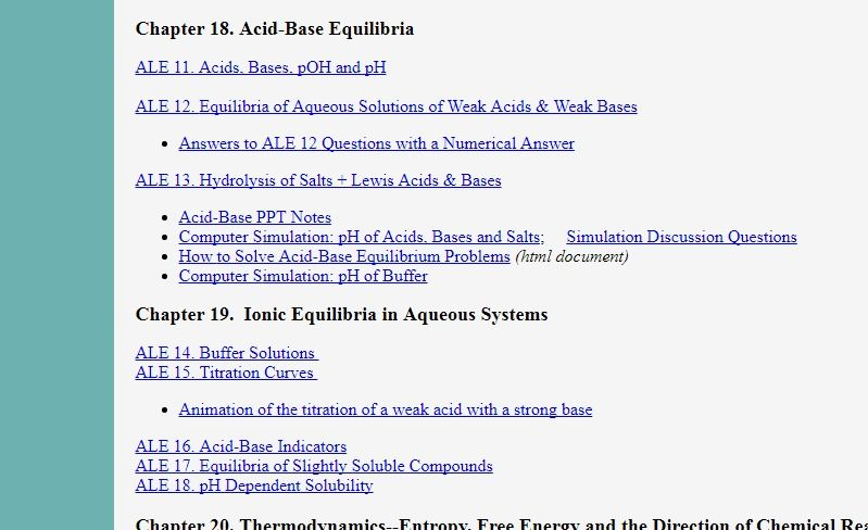Chemistry 163 ALEs Acid Base ALE S Acid Base Acid Base