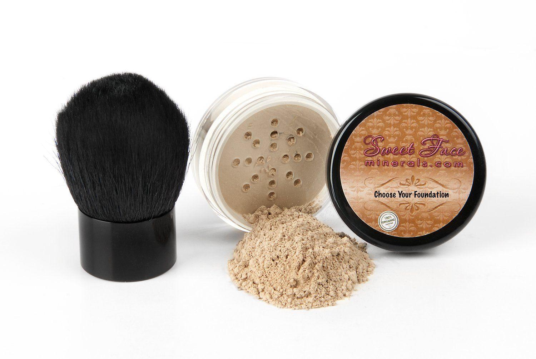 Sweet Face Minerals 2 Pc Foundation Kabuki Kit Mineral