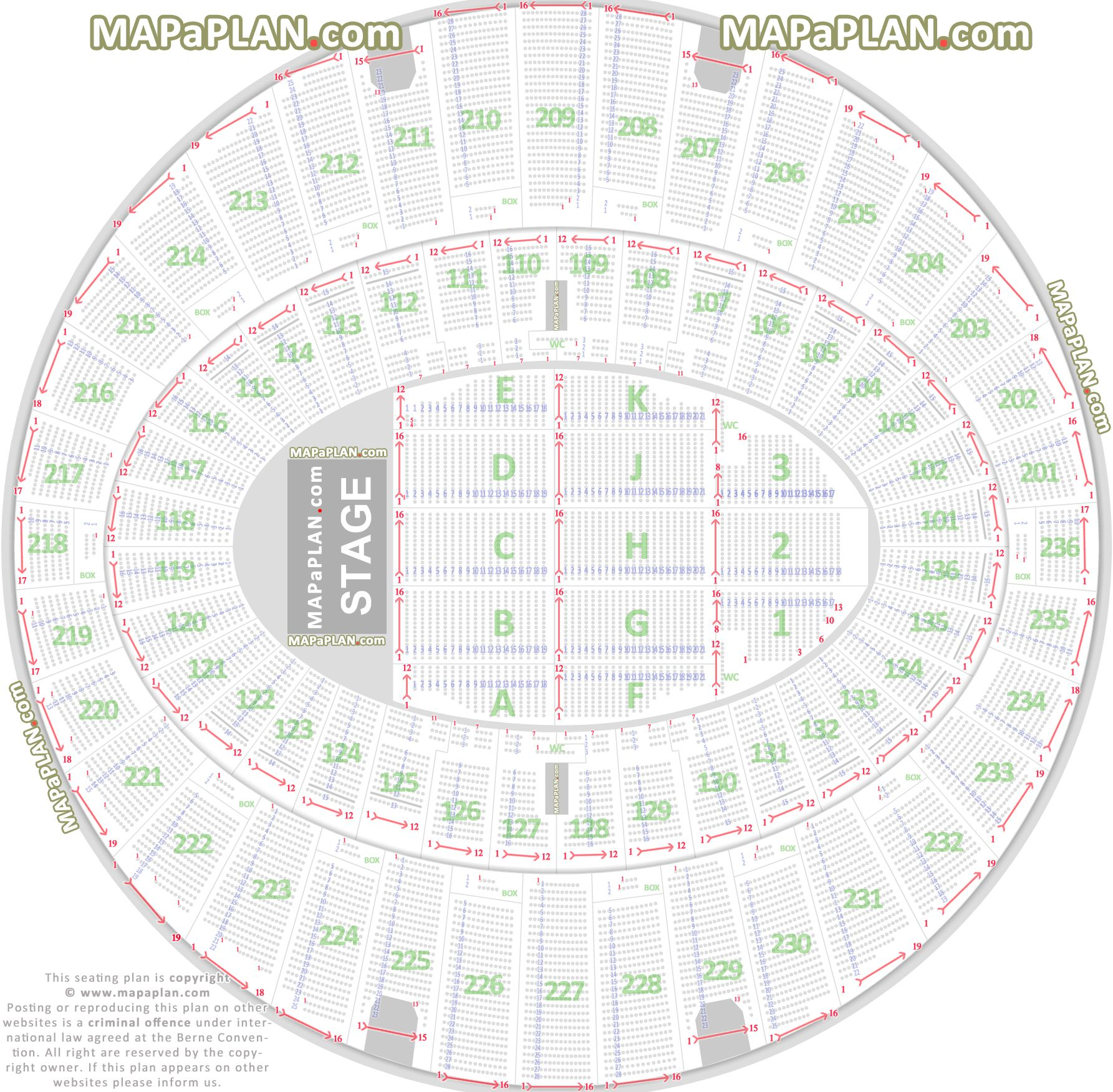 Detailed Seat Numbers Chart With Rows Sections Layout The Forum Inglewood Seating Plan Seating Charts Seating Plan Inglewood