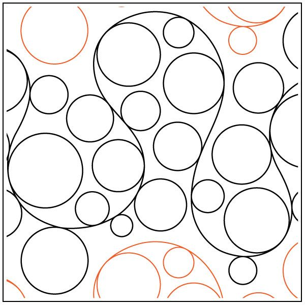 Whole Lotta Bubbles pantograph pattern by Patricia Ritter