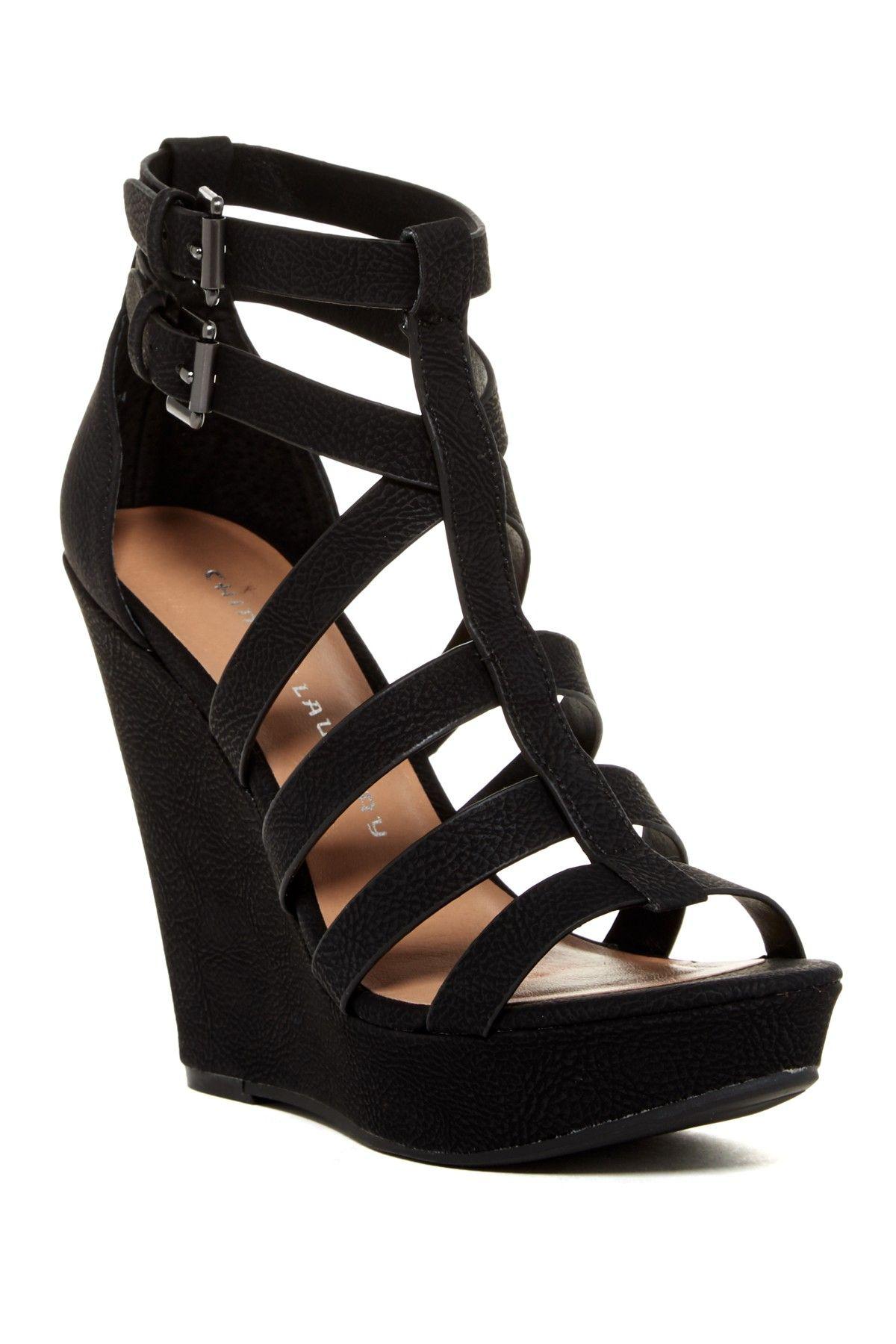 Chinese Laundry Mali Strappy Platform Wedge Sandal Platform Wedge Sandals Strappy Sandals Heels Black Wedge Shoes