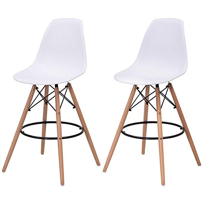 Excellent Giantex High Back Modern Dining Chairs W Natural Wood Legs Gmtry Best Dining Table And Chair Ideas Images Gmtryco