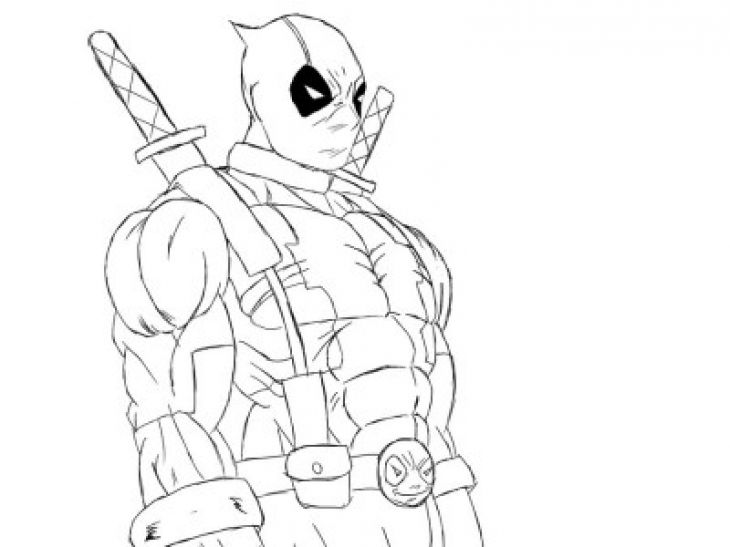 deadpool printable coloring page online free - Superhero Coloring Page