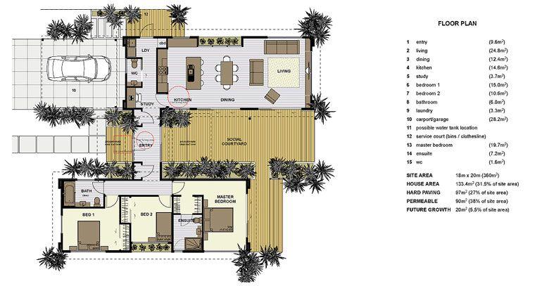 Smarter small home floor plan