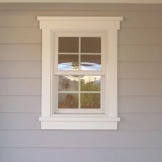 Pretty window trim. I want to do something thick if shutters are a ...
