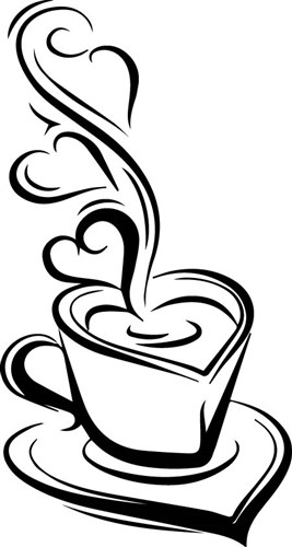 Steaming Cup Svg File Svg Designs Svgdesigns Com Coffee Art Coffee Heart Heart Design
