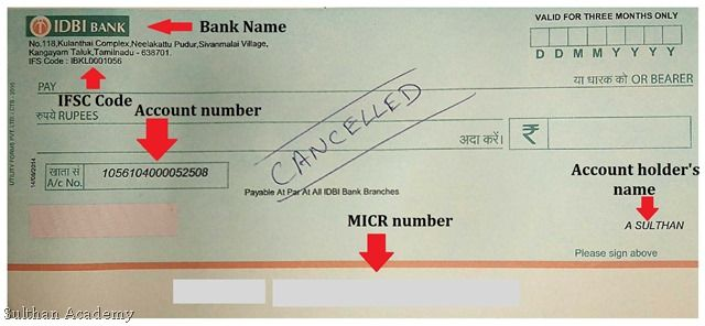 What Is A Cancelled Cheque Its Uses And Sample A Cancelled Cheque Simply Refers To Any Cheque That Has Strike Marks On It Wi Accounting Words Cancelled Check
