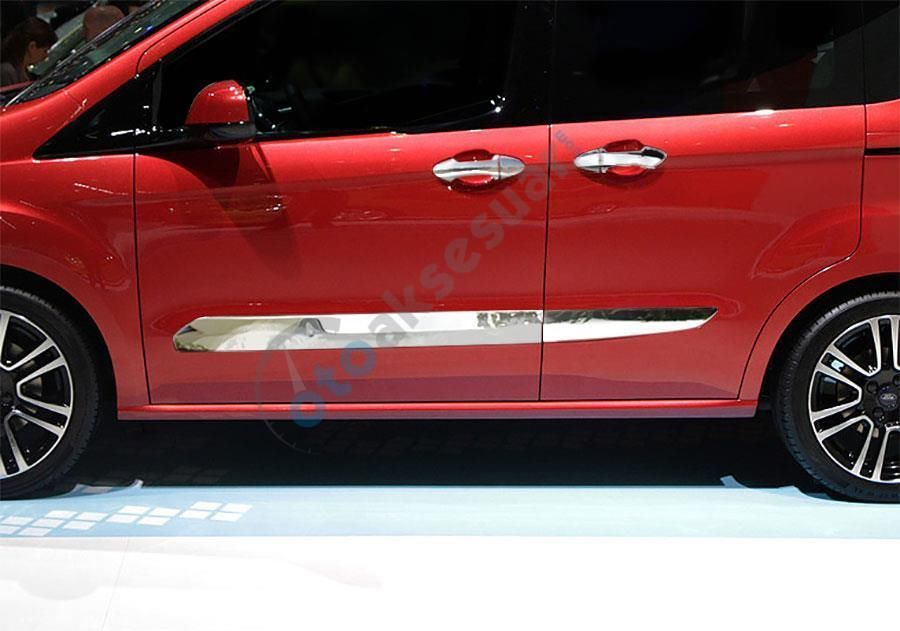 Ford Tourneo Courier 100 Stainles Steel Chrome Side Door Strip