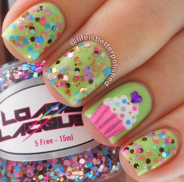 21 Birthday Nail Designs You\'ll Want to Copy | Confetti nails, Kid ...