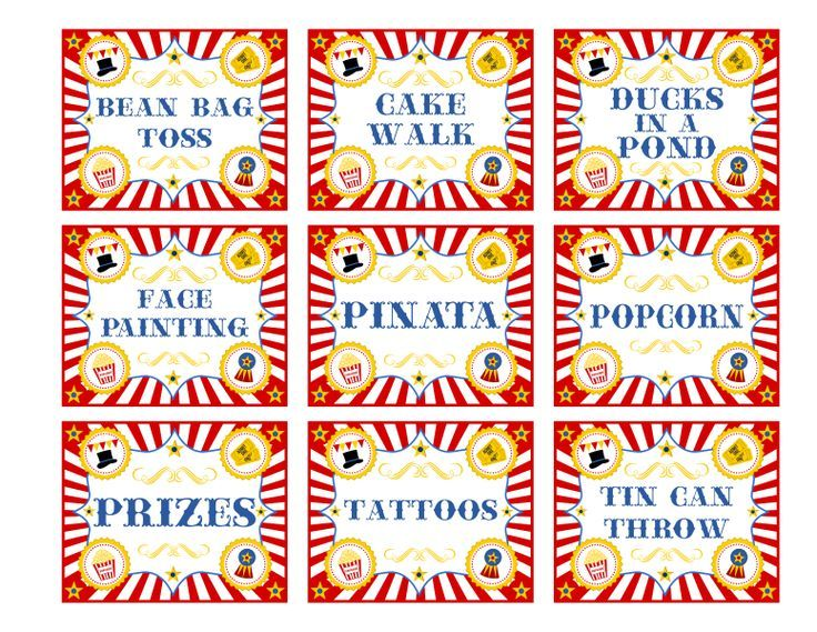 graphic relating to Free Printable Carnival Signs identified as Pin upon Circus Carnival Printables