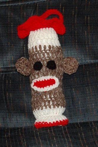 Sock Monkey Plastic Bag Holder | Crochet Gingerbread & Sock Monkeys ...