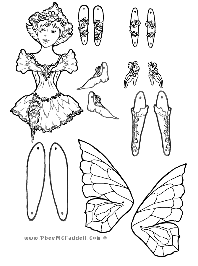 first fairy puppet coloring pinterest puppet. Black Bedroom Furniture Sets. Home Design Ideas