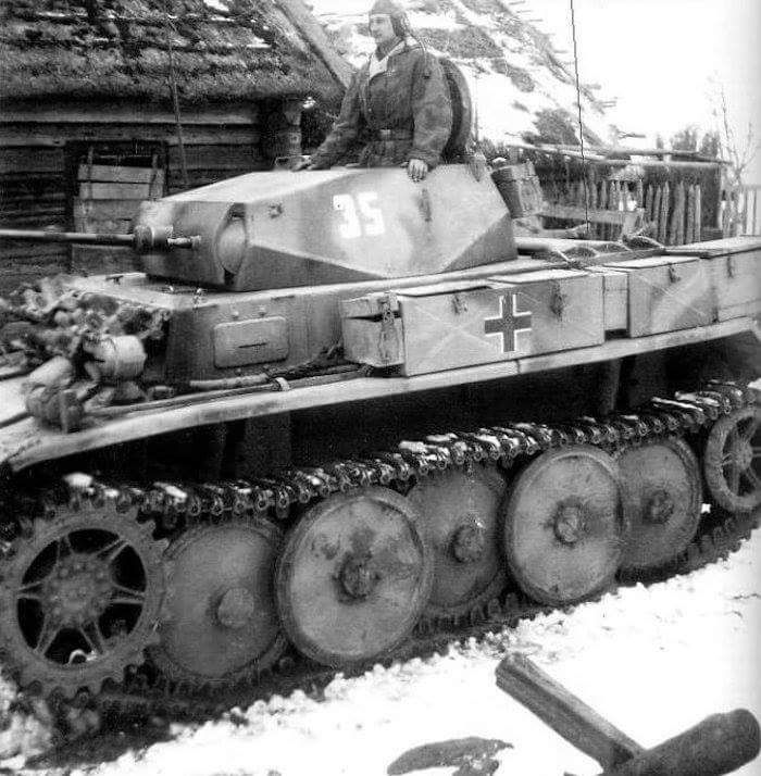 A SdKfz 123 'Luchs' fast reconnaissance vehicle