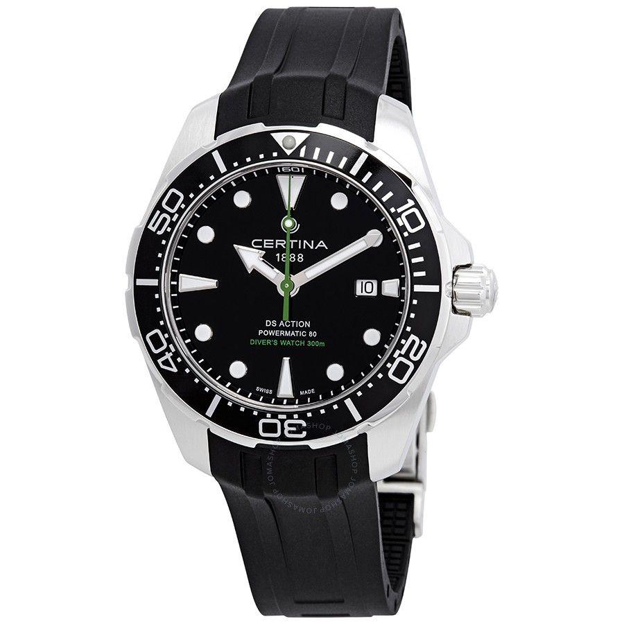 Certina Ds Action Diver Automatic Black Dial Men S Watch C032 407 17 051 00 Watches For Men Vintage Watches For Men