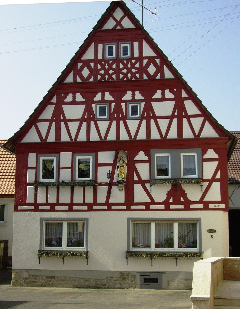 Fränkisches Fachwerk Röttingen - Timber framing - Wikipedia   Tudor ...