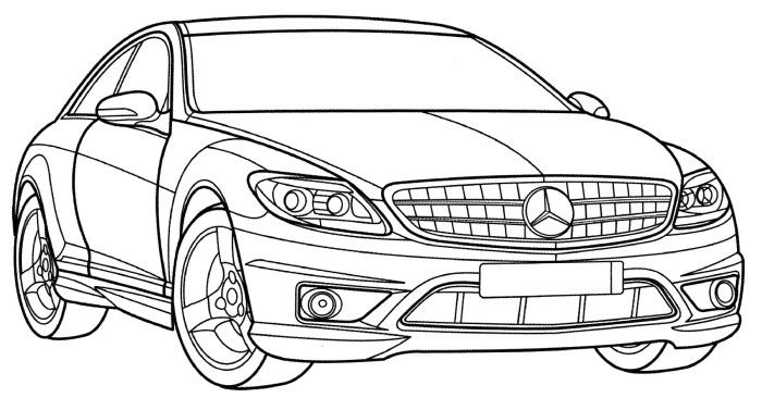 mercedes cl class coloring page