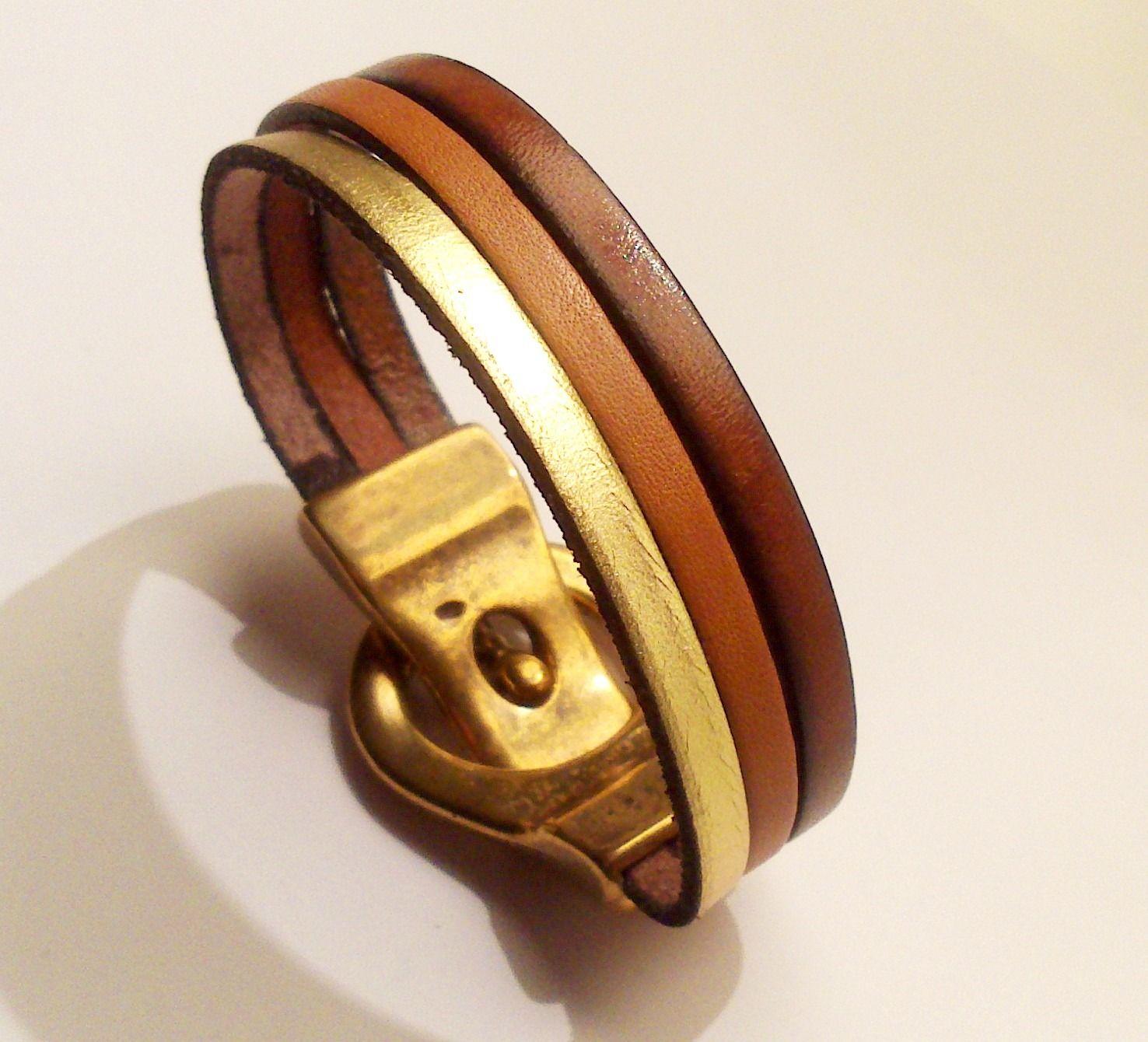 Bijoux cuir et or