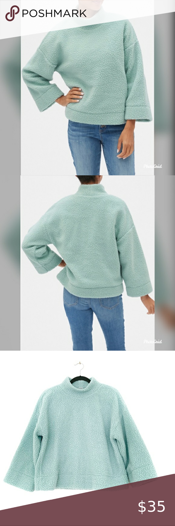 Gap Blue Teddy Bear Sherpa Pullover Mockneck Nwt Incredibly Soft And Cozy 23 Long 22 Pit To Pit 16 Sleeves Ta Sherpa Pullover Pullover Clothes Design [ 1740 x 580 Pixel ]
