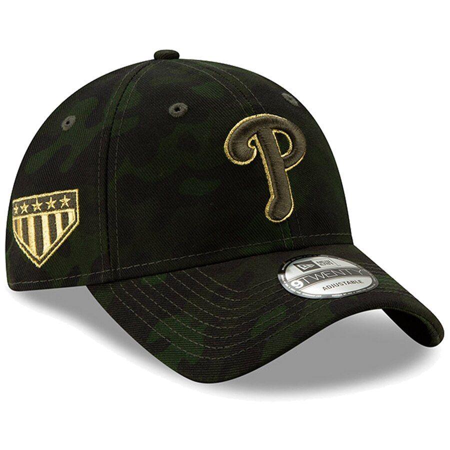 separation shoes 3b5e7 52ed2 Philadelphia Phillies New Era 2019 MLB Armed Forces Day 9TWENTY Adjustable  Hat - Camo,