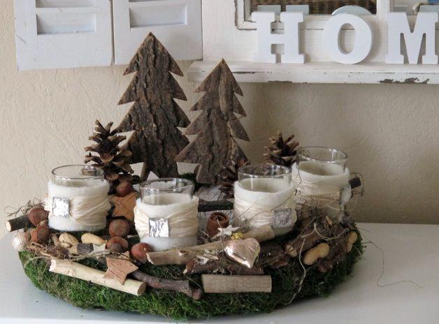 adventskranz verwunschener naturkranz christmas. Black Bedroom Furniture Sets. Home Design Ideas