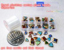 Nouveau design perles de verre, 60 pcs/lote, Marque vêtements différents styles colorés perles de cristal mix, Coudre sur des billes pour accessoires de vêtement(China (Mainland))