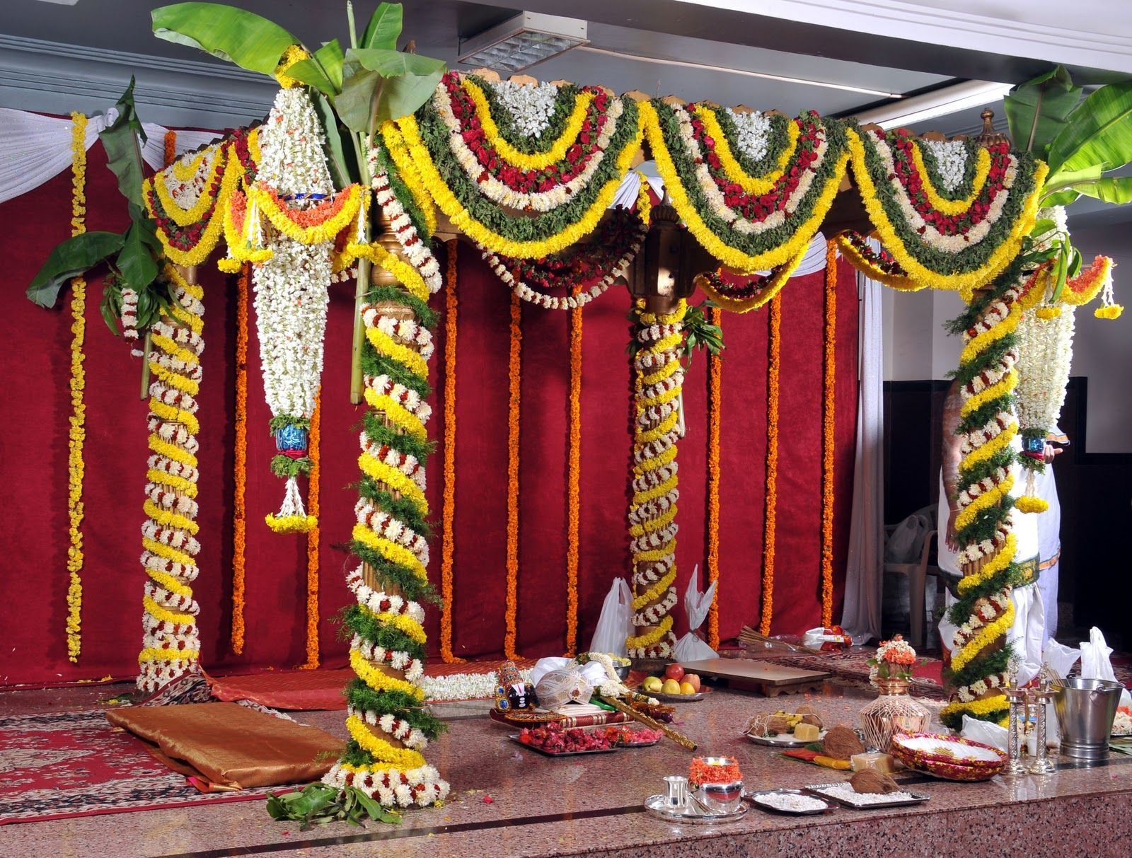South indian wedding mandap designs fashion beauty for Marriage decoration photos