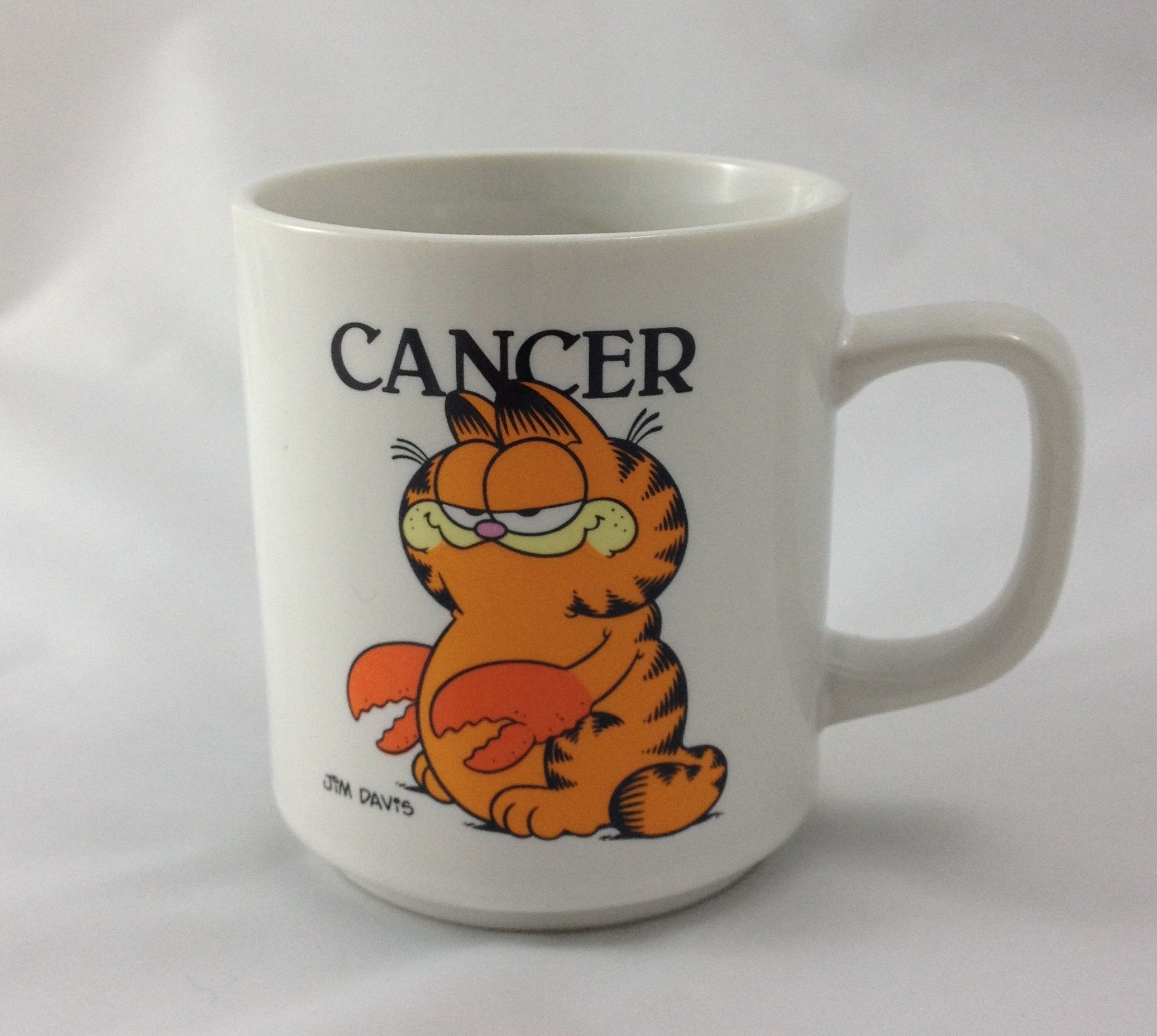 Certified international parisian fruit canister by susan winget set - Garfield Cancer Horoscope Mug Coffee Cup June July Crab Vintage 1978 Zodiac
