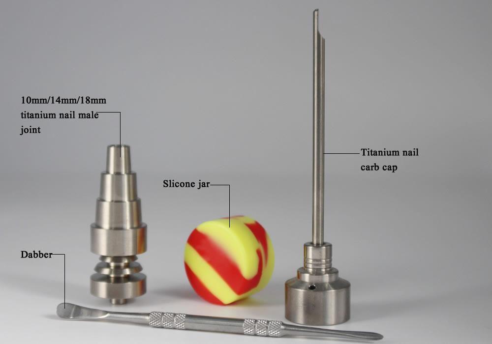 Bong Tool Set Carb Cap 10mm Amp 14mm Amp 18mm Domeless Gr2