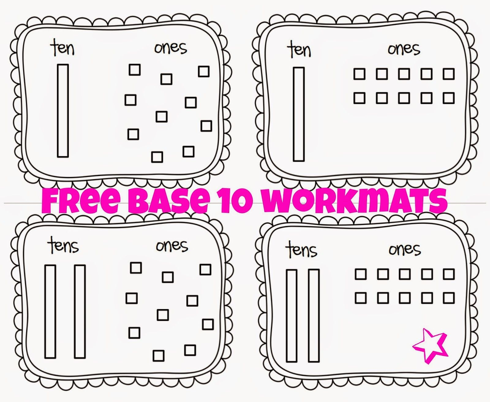 Base 10 Workouts To Help With Grouping Amp Place Value Free Printable