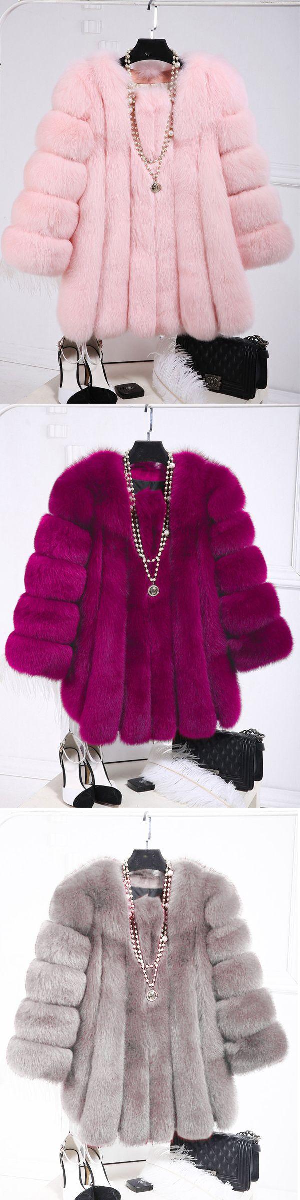 [Newchic Online Shopping] 46%OFF Casual Faux Fur Coats for Women 2
