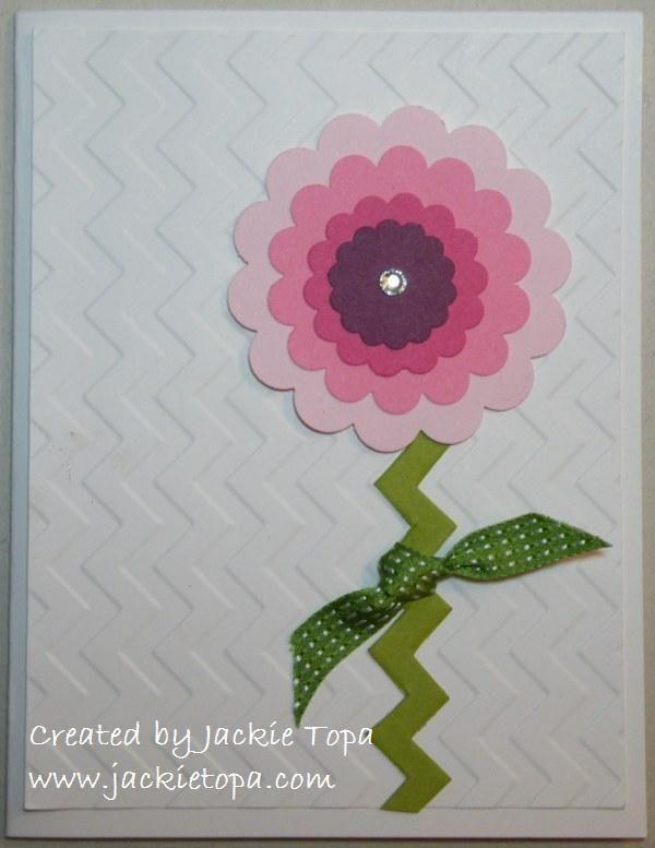easy flower card
