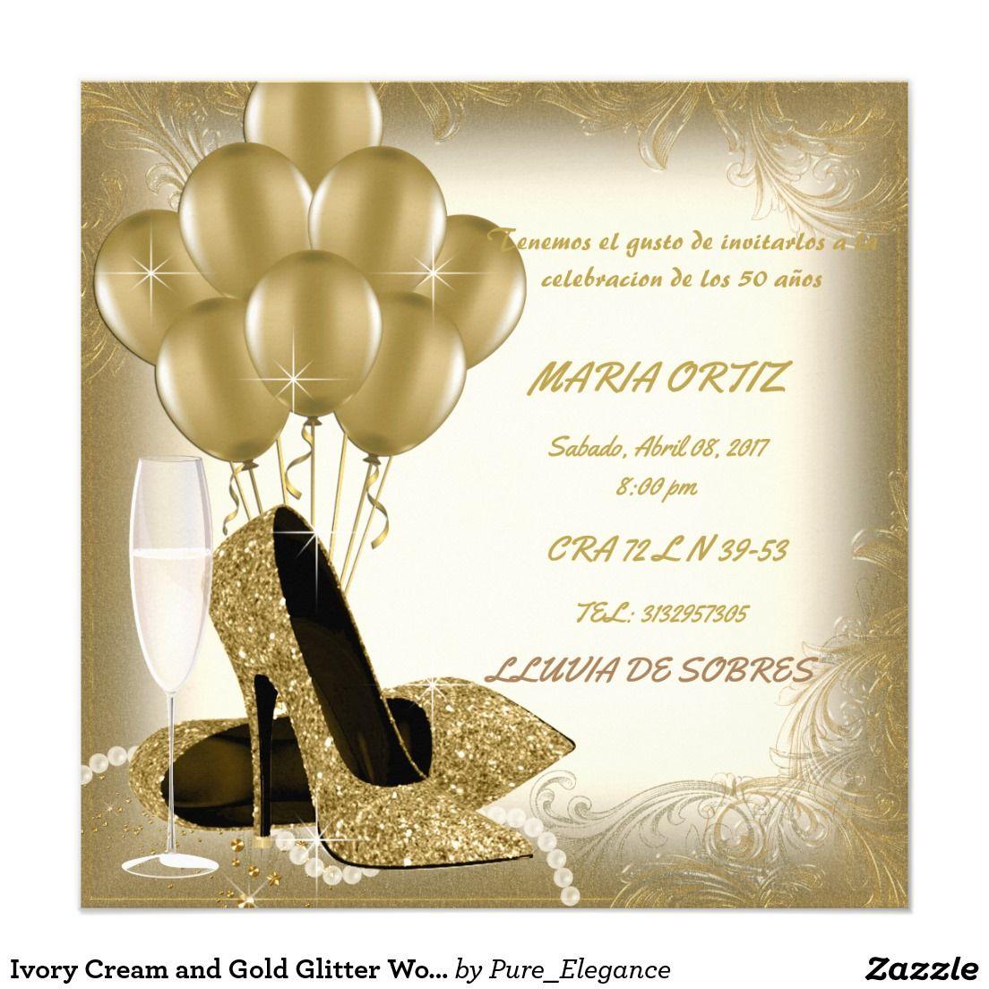 Invitaci n fiesta del cumplea os de marfil de la mujer del - Invitacion para cumpleanos ...