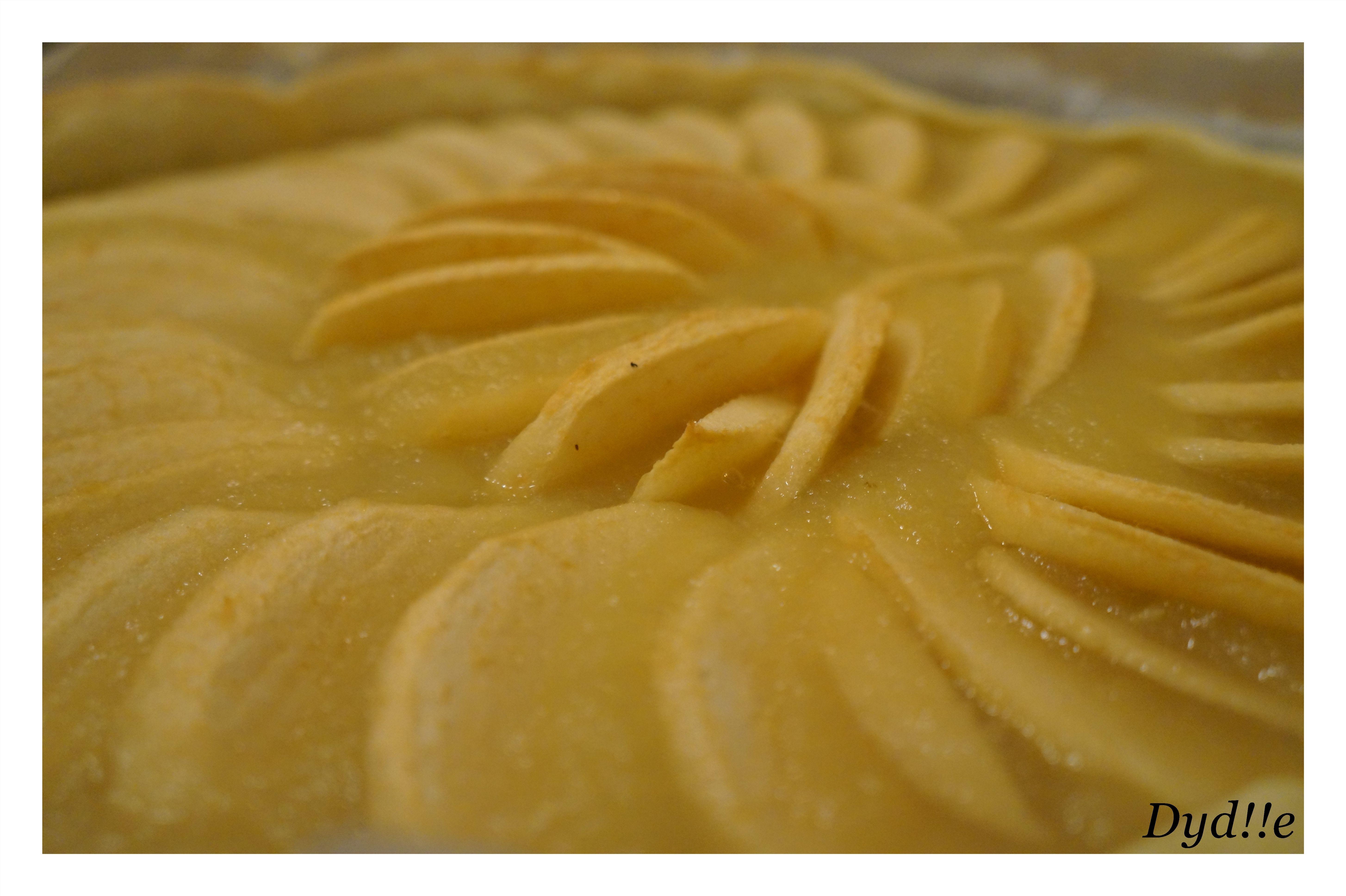 Ma première vraie tarte au pommes !! miaaamm