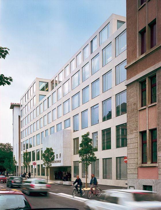 Hochschule in zürich zurich exposed concrete and facades