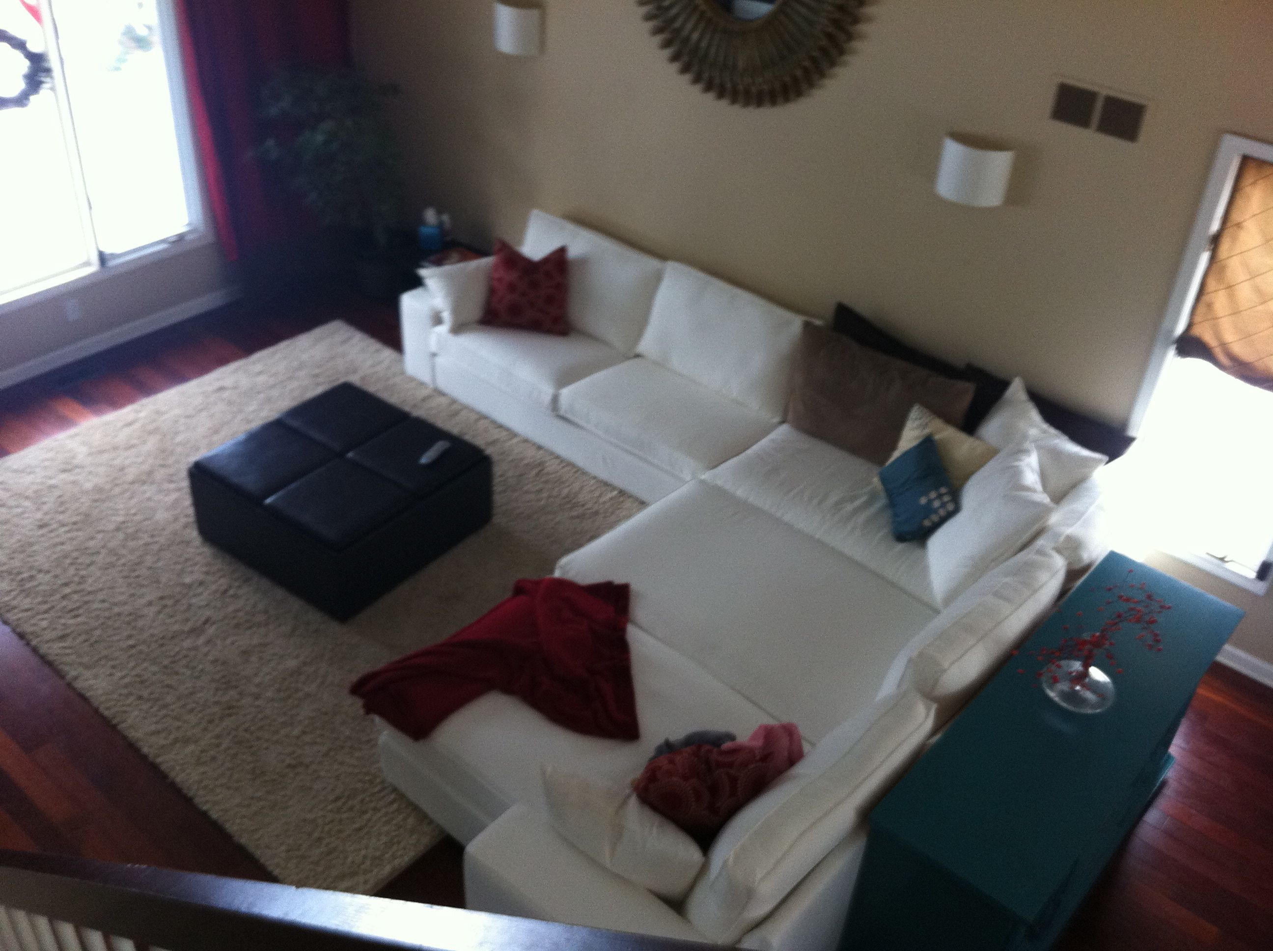 Ikea Kivik Sectional Diy Three Chaise Lounges Use Attachable Hardware Comes With Sofa To Attach One End Of Lounge And Purchased An