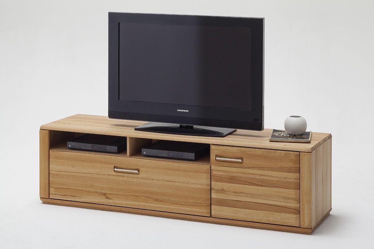 TV Kommode Lenor II in Kernbuche oder Eiche Bianco