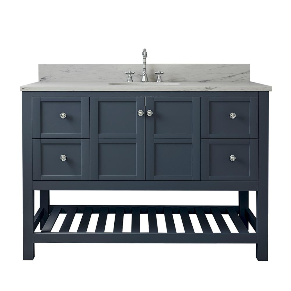 Home Elements Palmdale 49 In W X 34 In H Bath Vanity In Gray