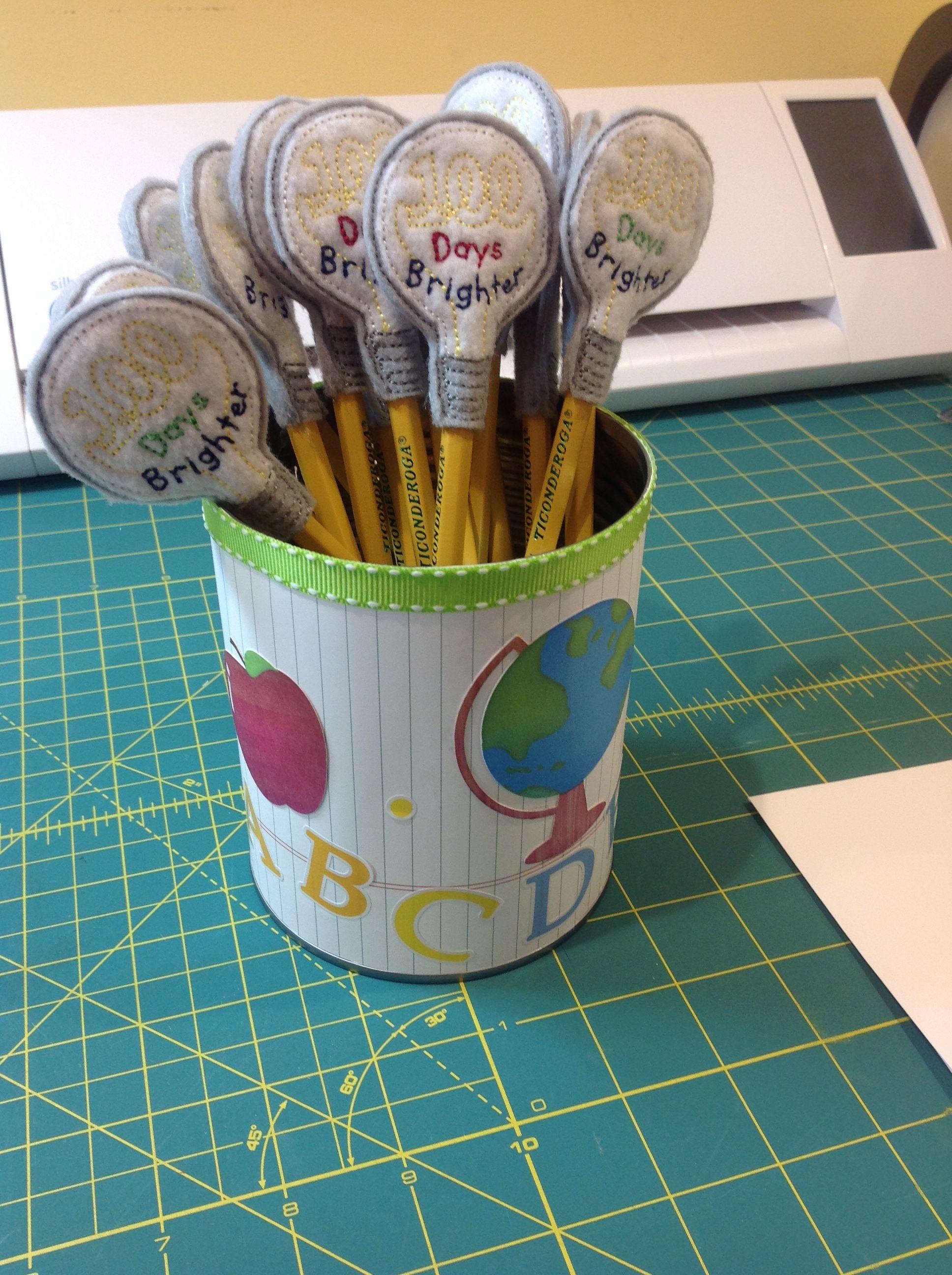 100th Day Of School Pencil Topper