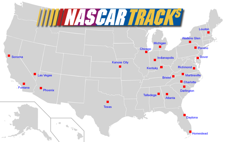 nascar tracks map - Google Search | z 2015 misc trip info ...