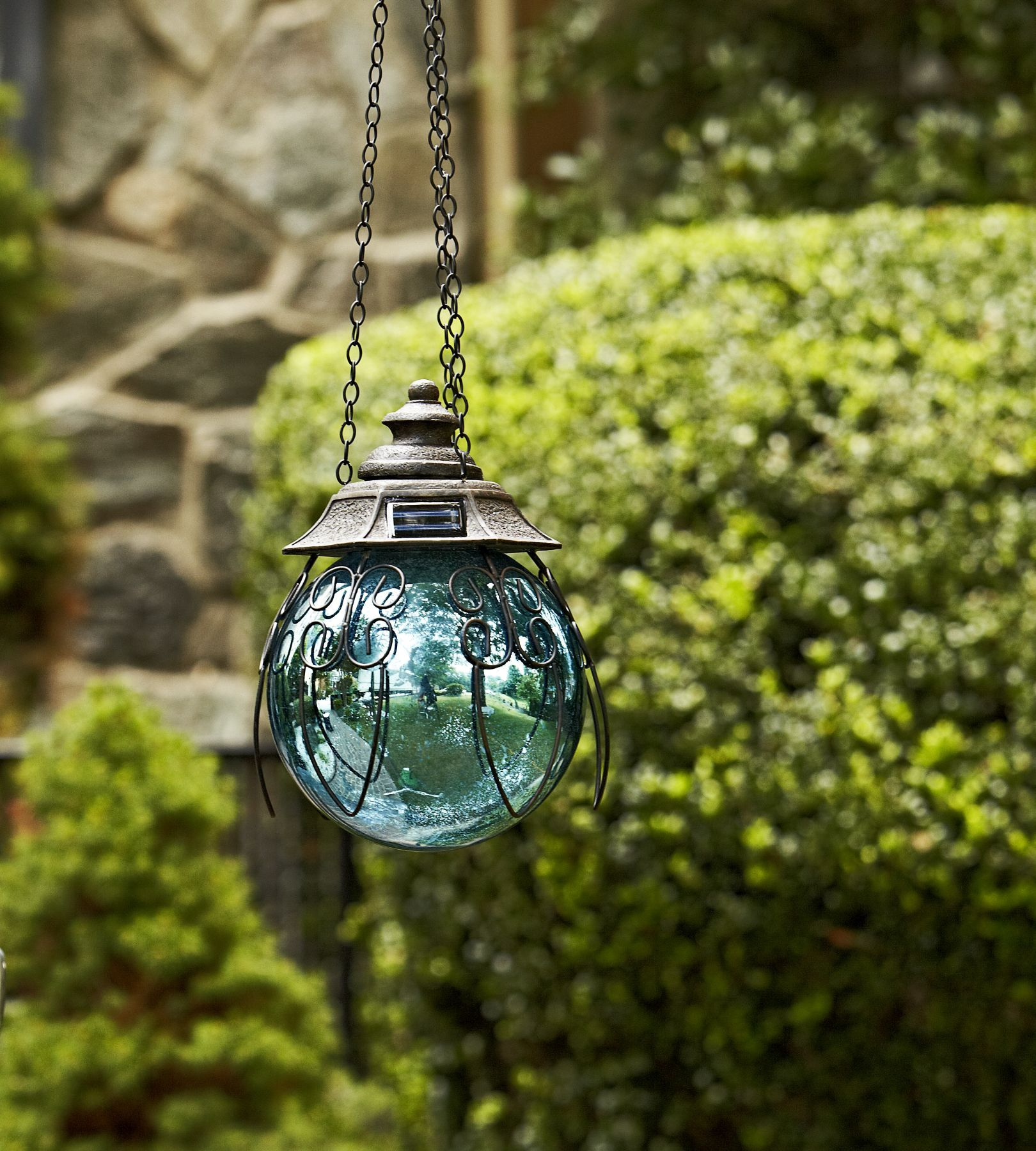 Check Out Garden Oasis Solar Hanging Gazing Ball   Blue   ShopYourWay