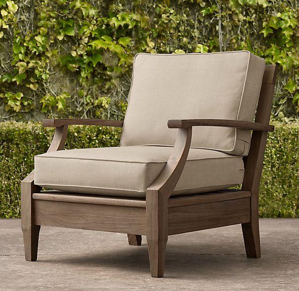 Santa Monica Teak Classic Lounge Chair Mem Ag Home In