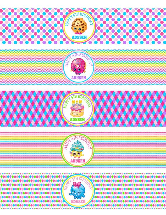 On Sale Diy Personalized Shopkins Birthday Party By Susanefird