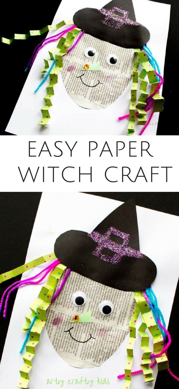 Easy Paper Witch Craft Witch craft, Crafty kids and Witches