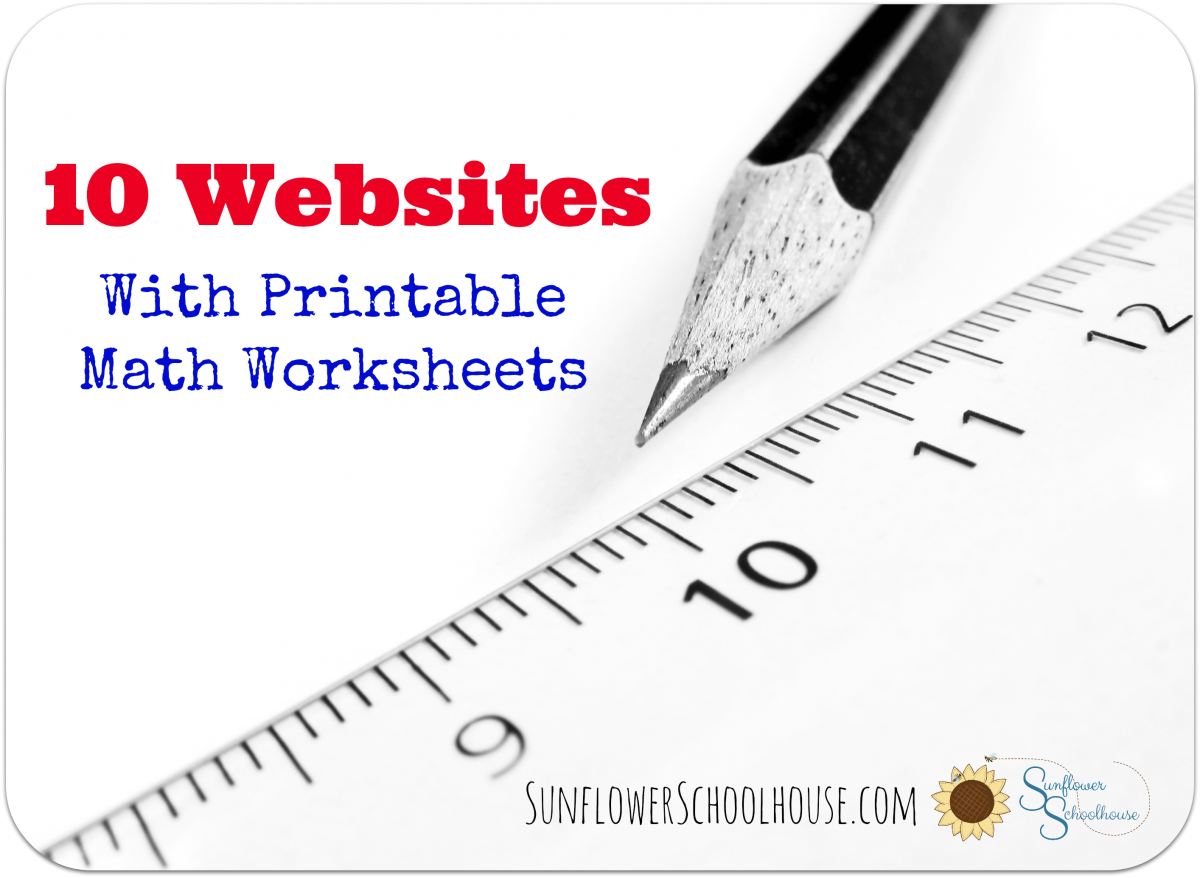 10 Sites With Printable Math Worksheets