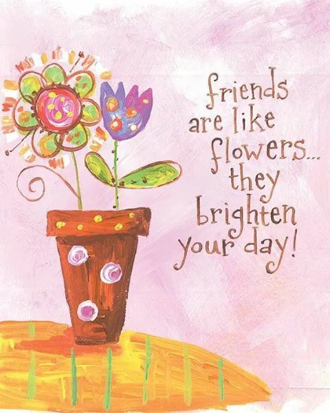 Friends are like flowers they brighten your day! | Friendship