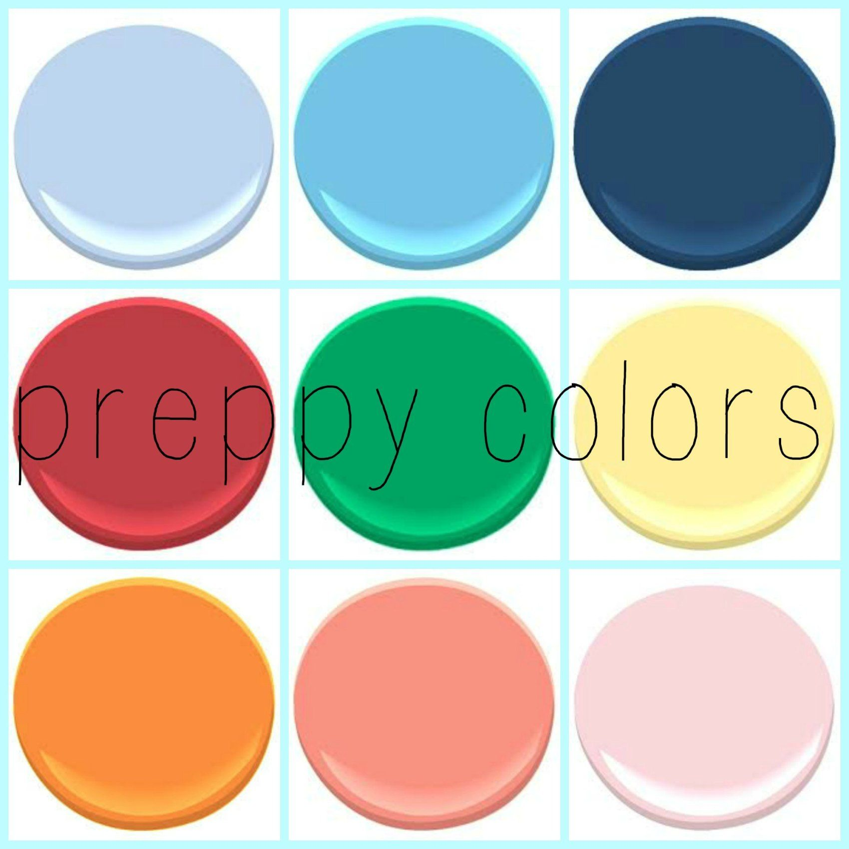 PREPPY IS HERE – PART I | Colours | Pinterest | Blue poppy, Coral ...