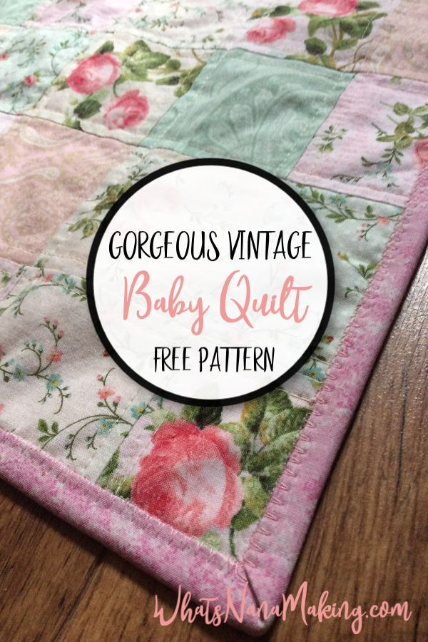 Photo of Simple Squares Vintage Baby Quilt – What's Nana Making?