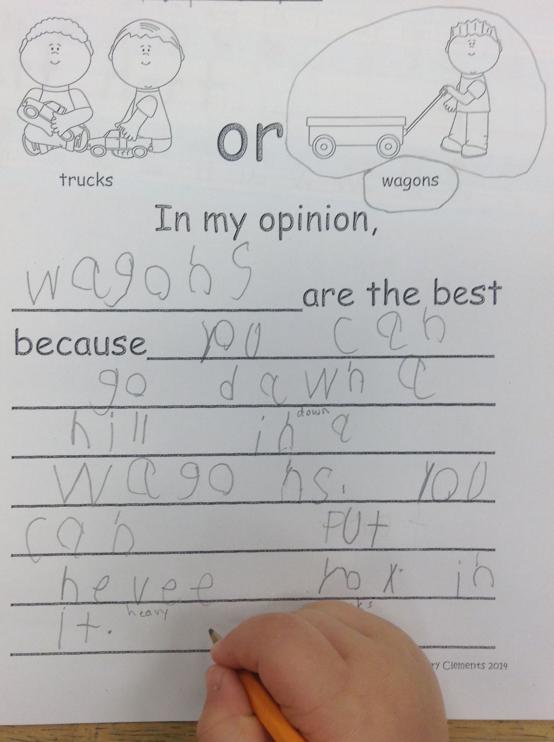 Toys Opinion Writing